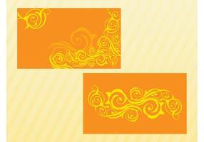 Swirls Vector Cards