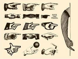 Retro Hands Vectors