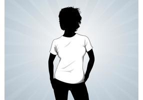 T-Shirt Mädchen Vektor