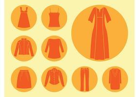 Vector de ícones de roupas