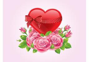 Herzen und Rosen Vektor