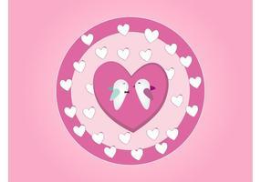 Vector de aves en el amor