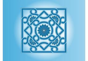 Mosaico floral vectorial