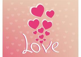 Alla hjärtans vektor bakgrund