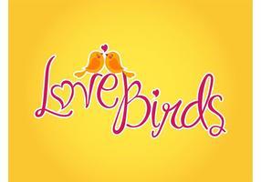 Vecteur amour oiseaux