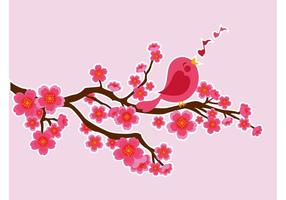 Pássaro de canto vetorial