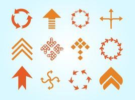 Vecteur de logos de flèches