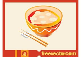 Asiatisk Soup Vector