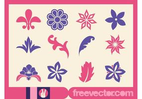 Vector Blumen Icons
