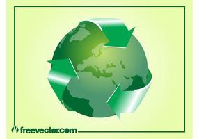 Vector verde del mundo