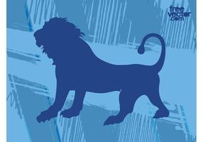 Vetor do leão rugindo
