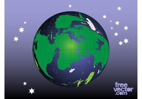 Planeta gráficos vectoriales
