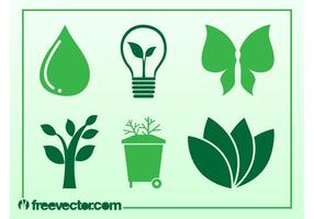 Ícones de ecologia e natureza