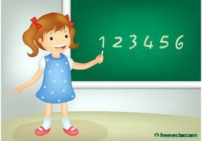 School Girl Vector