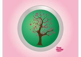 Insigne d'arbre de printemps