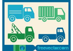 Vecteur d'icônes de camions
