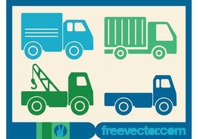 Trucks Icons Vektor