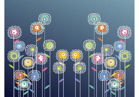 Abstract Vector Flowers
