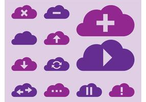Vector Wolken Pictogrammen