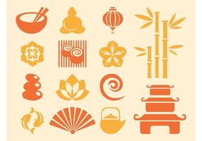Iconos japoneses Vector