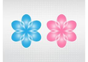 Vektor blommande blommor