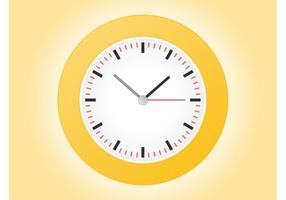 Vector reloj de la cara