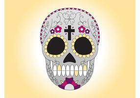 Vector de cráneo de azúcar