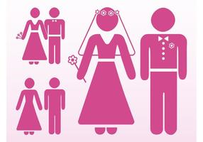 Hochzeit Icons