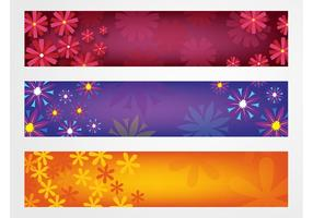 Flores Banners Vector