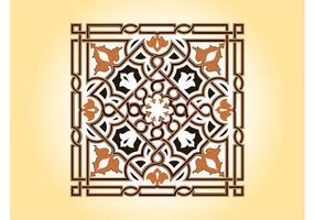 Diseño floral del azulejo del vector