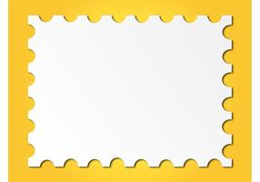 Marco del sello del poste
