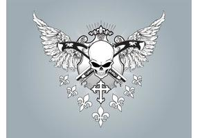 Winged-skull-vector