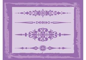 Vintage Decorations Vectors
