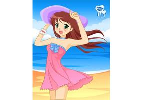 Beach Girl Vector