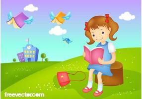 Reading-girl-vector