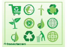 Ícones do vetor da ecologia