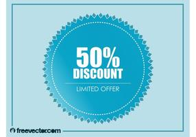 Vecteur badge discount