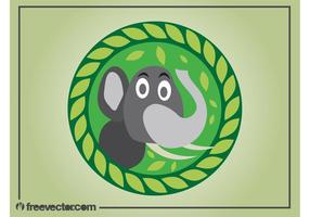 Cartoon olifant vector