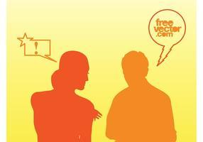 Pratar folk vektor
