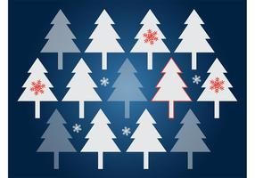 Kerstbomen Vector Achtergrond