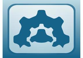 Icono de ruedas de engranaje