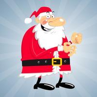 Crazy Santa Vector