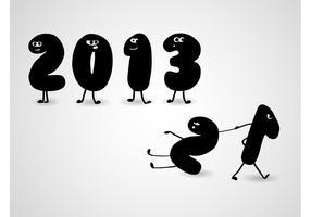 2013 Karikatur-Vektor
