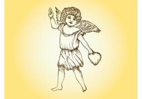 Vintage Cupid Vector
