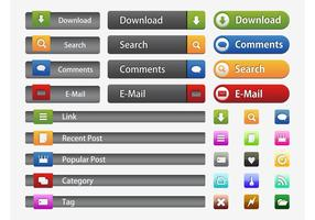 Interface Buttons Vectors