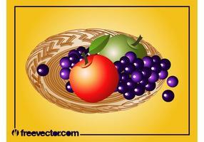 Obst Platte Vektor