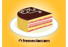 Pedaço de vetor de bolo