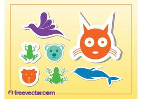Dieren stickers vector