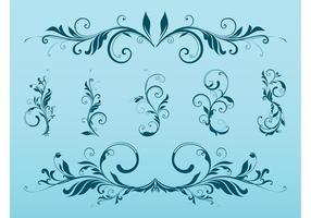 Swirling Flower Scrolls