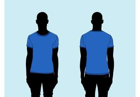 Mannen T-shirt Vector